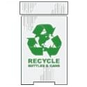 Bottles & Cans Corrugated Plastic Recycling Bins Die cut corrugated plastic shapes, house cut, star, arrow, circle, star burst, diamond, white, yellow, red, 4mm white corrugated plastic sheets